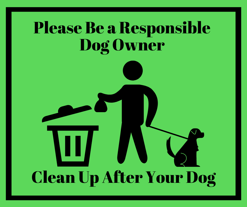 Please Be a Responsible Dog Owner